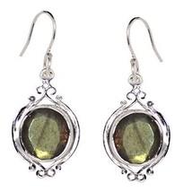 Women Party Women Earring Solid Labradorite Gemstone 925 Silver Jewelry SHER0297 - $10.29