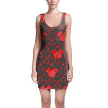 Mouse Ears Watercolor Red Bodycon Dress - $30.99+