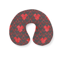 Mouse Ears Watercolor Red Travel Neck Pillow - $25.22 CAD