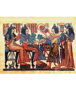 Egyptian Art Papyrus Paper Royal Temples Tombs Pharaohs Made in Egypt EA22 - $14.84