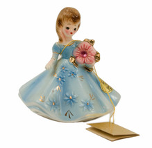 "Josef Originals  3 3/4"" October Opal Girl Figurine with original sticker & tag - $54.45"