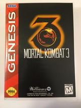 Mortal Kombat 3 - Sega Genesis - Replacement Case - No Game - $7.91