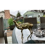 "9"" Stag Buck Deer - 9"" Brass Reindeer Sculpture Figurine  - $27.22"