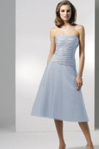 Dessy 2510...Cocktail length, Strapless Dress.....Cloudy...Size 4 UK - $49.49
