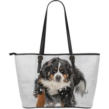 Bernese Mountain Dog Large Leather Bag - $54.95