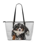 Bernese Mountain Dog Large Leather Bag - £39.96 GBP