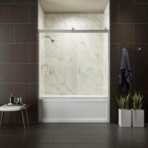 KOHLER Bathtub Door 59 in. x 59.75 in. Semi-Frameless Innovative Roller Chrome - $515.14