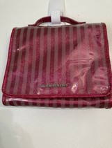 NEW Victorias Secret Striped CASE Makeup Cosmetic Bag Travel - $41.00