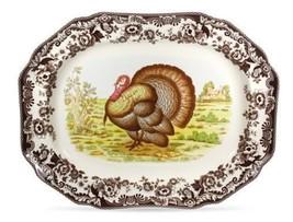 Spode Woodland Turkey Octagonal Platter - $148.49