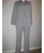 Sag Harbor Grey Tweed Ladies Pantsuit Size 14 - $33.00