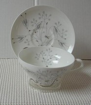 Wedgwood Wild Oats Platinum Cup & Saucer (S) Bone China Pattern W4166 England - $7.75