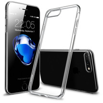 For Apple iPhone 7 PLUS Case Silicone Clear Cover Bumper Rubber Protecti... - $6.96