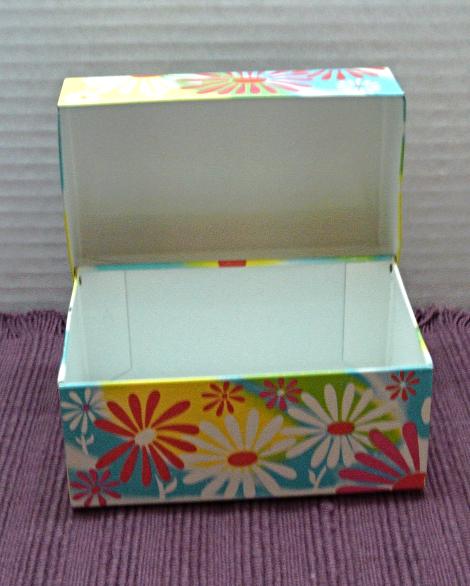 Vintage FLOWER POWER Tin Recipe Card Holder/Box // SYNDICATE MFG. CO Recipe Box