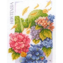 Set for embroidery company Lanarte cross.PN-0145977 Hydrangea power size... - $42.00