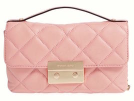 Michael Kors Sloan Small Quilted Messenger Cros... - $247.49