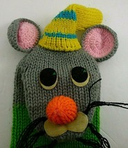 Vintage Russ Berrie Mouse sock hand puppet plush - $39.98