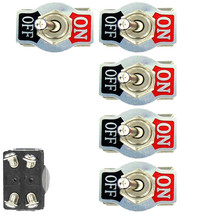 5 X Heavy Duty 20A 125V 250V 15A DPST 4Pin ON/OFF Rocker Toggle Switch - $10.55