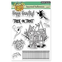 Blenders (Countertop) Penny Black Hunted Halloween Transparent Stamps PB... - $24.67