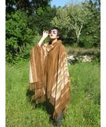 Alpaca Poncho deluxe Camel & Beige Fashion - $135.00