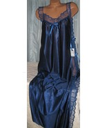 Navy Blue Toga Style Lace Open Tie Look Side Lo... - $20.47