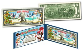 MERRY CHRISTMAS * SNOWMAN * XMAS OFFICIAL Genuine Legal Tender U.S. $2 Bill - $13.95