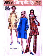 Simplicity 8999 Maternity Dress or Jumper and Pants Misses Size12 - $7.99