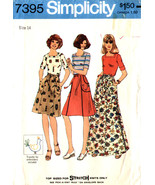 Simplicity Pattern 7395 Misses Back Wrap Skirt in Two Lengths and Top Si... - $7.99