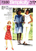 Simplicity 7330 How to Sew Pattern Dress Top and Pants Size 14 - $7.99