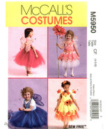 McCall's Pattern 5950 Toddlers and Childrens Fairy Costumes Sizes 4 - 5 - 6 - $7.99