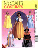 McCall's Pattern 2856 Childrens and Girls Storybook Costumes Rupunzel - ... - $7.99