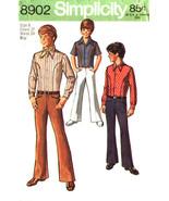 Simplicity Pattern 8902 Boys Body Shirt - Bell Bottom and Hip Hugger Pan... - $7.99