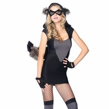 New Sexy Women's Animal Costume Risky Raccoon 2 Piece Racoon Costume Size   S/M - $32.58