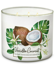 Bath & Body Works Vanilla Coconut Three Wick.14.5 Ounces Scented Candle - $22.49
