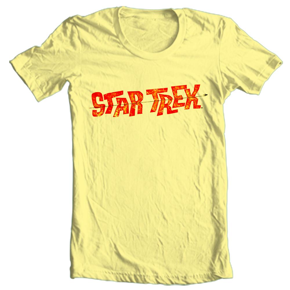 Star trek logo tee kirk spock t shirt vintage original cast 100 star trek logo t shirt cbs1203 buycottarizona