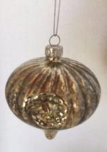 Mercury Silver Glass Blown Christmas Tree Ornament Distress Ball Holiday... - $12.19