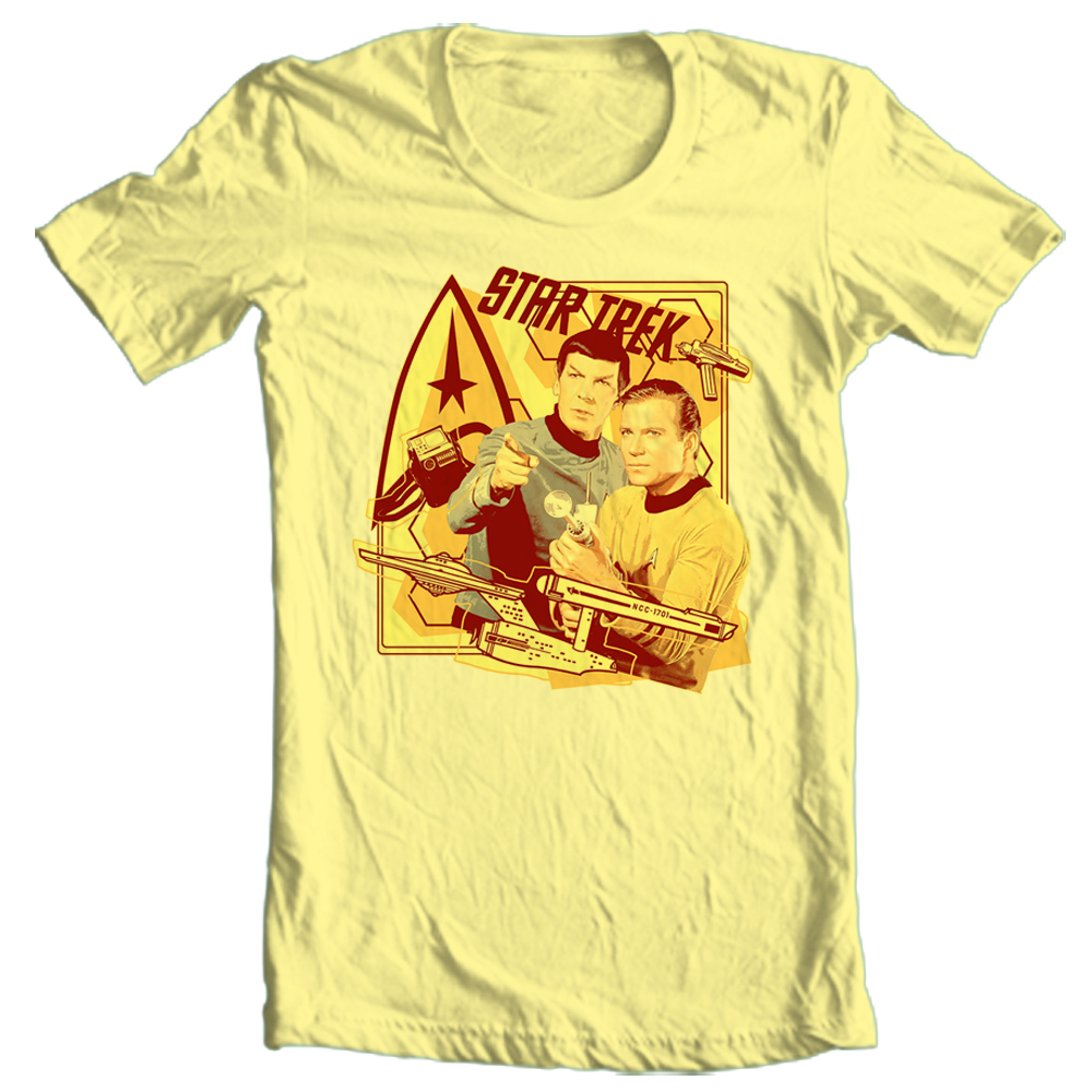 Star trek kirk spock t shirt cbs745