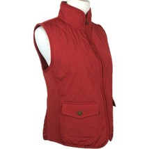 Talbots S Small Quilted Vest Zip Up Mock Neck Polyester Filled Lightweig... - $21.18