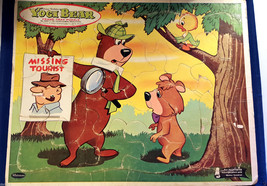 Hanna Barbera YOGI Bear Vintage Frame Tray Puzzle 1963 Western Publishing - $12.99