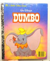 Disney Dumbo 1979, 41st print, foil spine Cartoon LGB Golden Books - $9.99