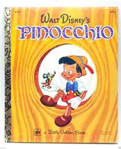 Disney Pinocchio Little Golden Book cartoon 1974 35th print LGB - $9.99