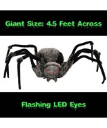 Huge Scary GIANT SPIDER with LED EYES 4.5-foot ... - $79.17