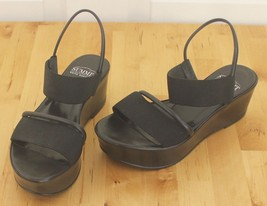 Womens Summit White Mountain 90's Style Black Platform Sandals Sz 6.5-7 EU 37 - $59.95