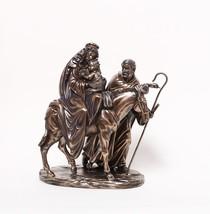 MARY JOSEPH INFANT JESUS THE FLIGHT TO EGYPT STATUE BRONZE FINISH HOME D... - $66.13