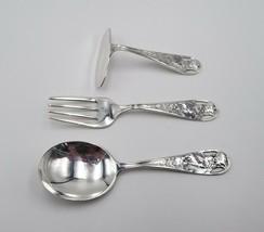 2 Devonshire Ice Cream Forks International 5 inch fork Sterling Silver