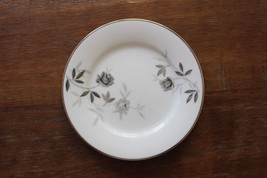 Vintage Noritake Rosamor Bread Plates Set of 12 c50s-70 Grey Roses Platinum - $57.97