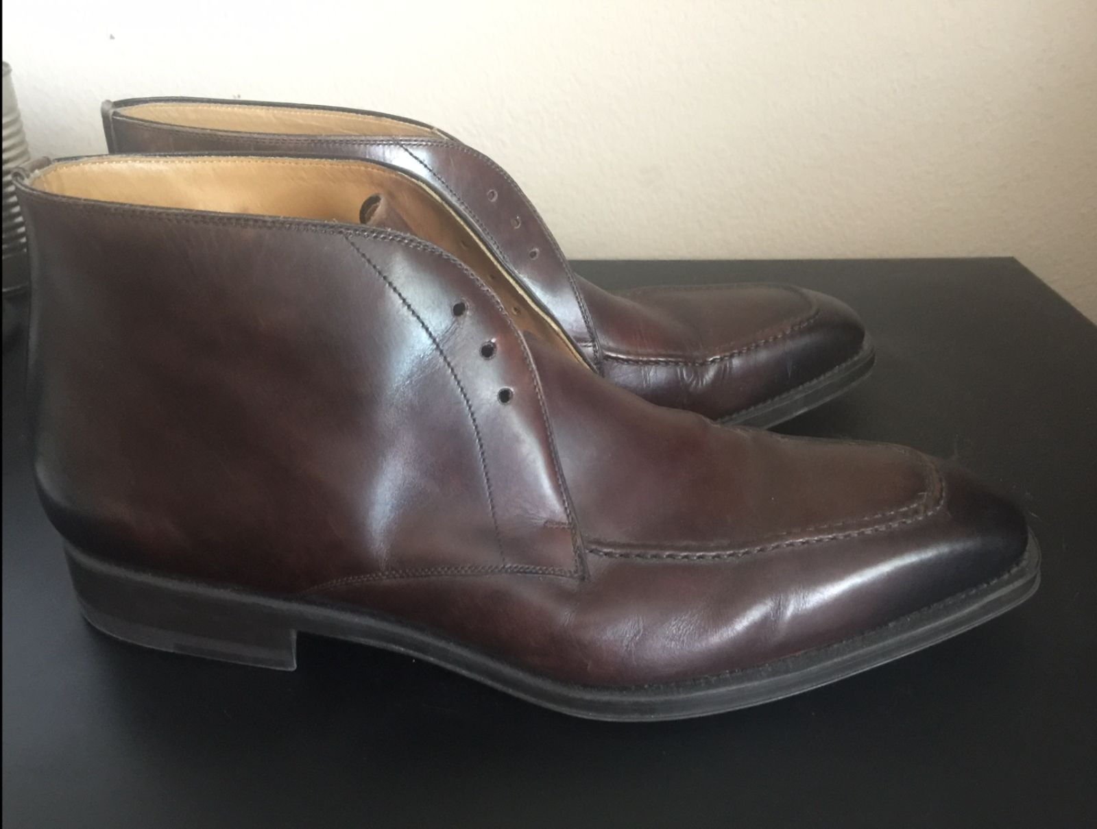 new mens magnanni brown leather oxford dress shoes made in