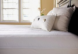 Sunbeam Quilted Polyester Heated Mattress Pad with EasySet Pro Controlle... - $83.38