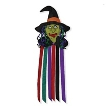 Witch Windtail,Windsock,Outdoor Halloween Decor,Yard Decoration - €24,50 EUR
