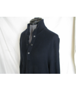 BANANA REPUBLIC Mens Sweater Navy Blue M 4 Snap Front VERY NICE - $18.99