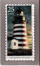 USPS POSTCARD - Lighthouses Commemorative Puzzle series - WEST QUODDY HE... - $10.00